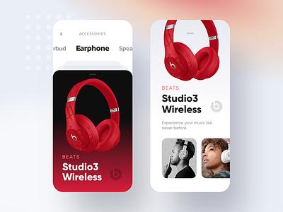 Beats App UI figmadesign figma ios app ux ui minimal