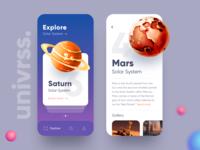 Explore Universe App UI
