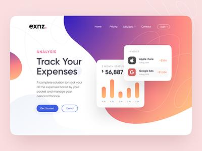 Exnz - Web UI minimal ux ui ecommerce figma landingpage card app webdesign payment