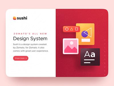 Sushi Design System - Zomato ux ui iphone app web landingpage zomato sushi design system design