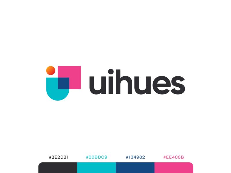 uihues - branding hues gradient colors illustration logo grid logo concept logo branding