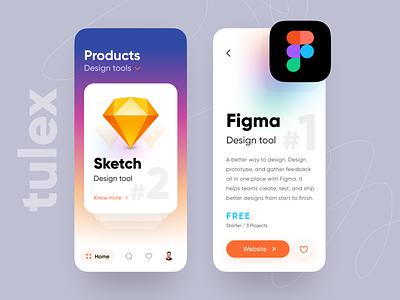 tulex - app ui clean explore home design tool figma swipe card design app ios ux daily ui minimal