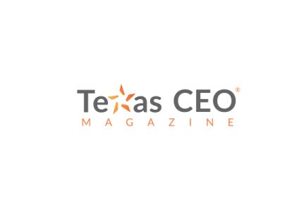 Case Study  Texas CEO magazine icon vector typography logo design print branding