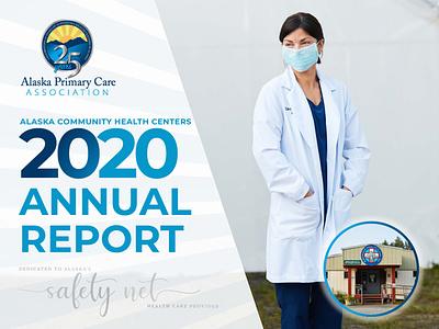 Alaska Primary Care Association Annual Report design icon illustration vector typography print
