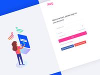 Login/Register Page