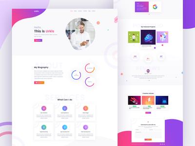 Urkis - Creative Portfolio Landing Page