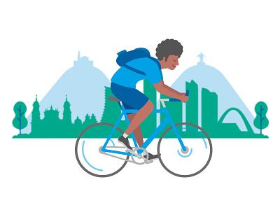 Bogotá City Biker bycicle illustration fixie biker bogota