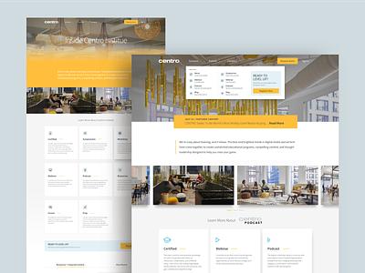 Centro Web typography branding media player financial advisor tech ux ui illustration website