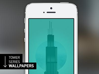 Tower Series iPhone 5s Wallpaper wallpapers ios 7 design lock screen app