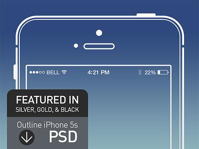 iPhone 5s Free Mock Up iphone mock up design ios 7 website ux ui
