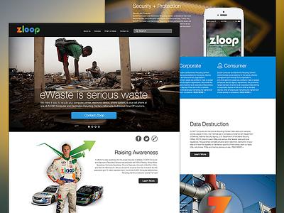 Zloop Parallax Site parallax website design development