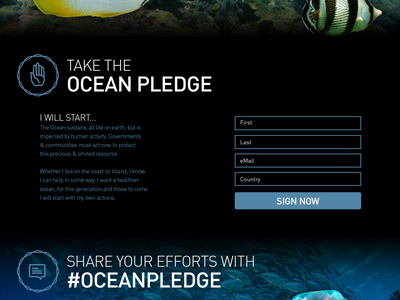 Oceans Parallax Site website parallax design development