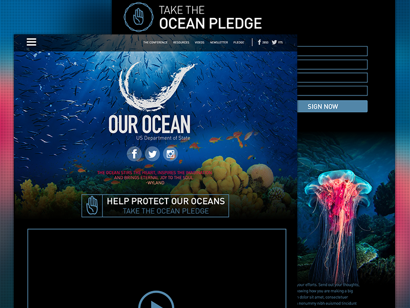Oceans Parallax Site website parallax design development