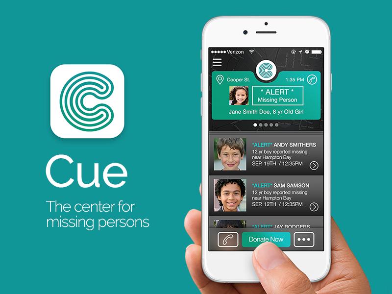 Cue App ios8 apple app ui ux logo branding