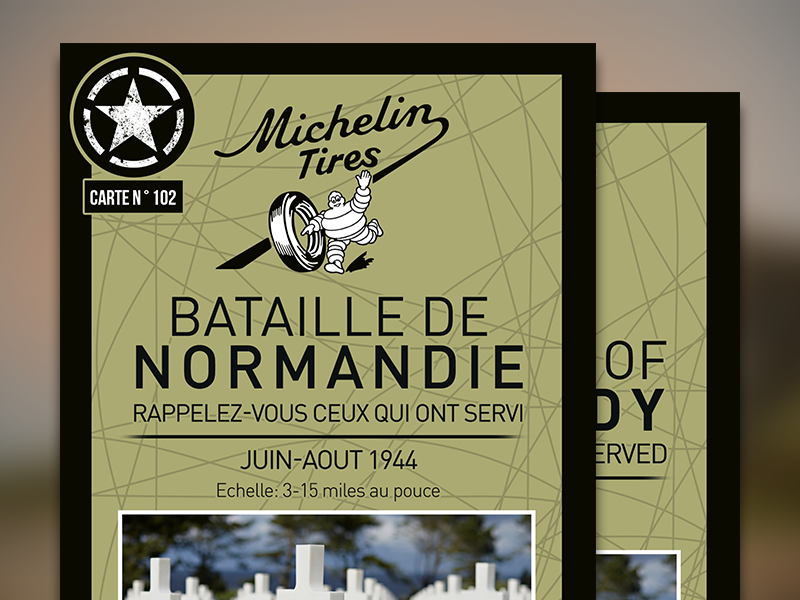 Normandy 70th Anniversary Map Cover design map printed