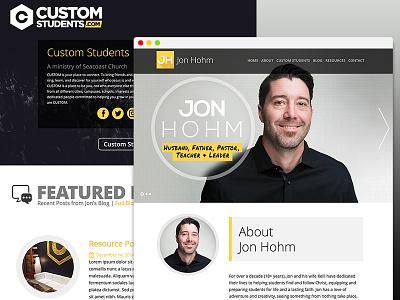 Jon Hohm Web website responsive logo branding ui ux design