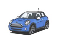 Mini Cooper - Illustration