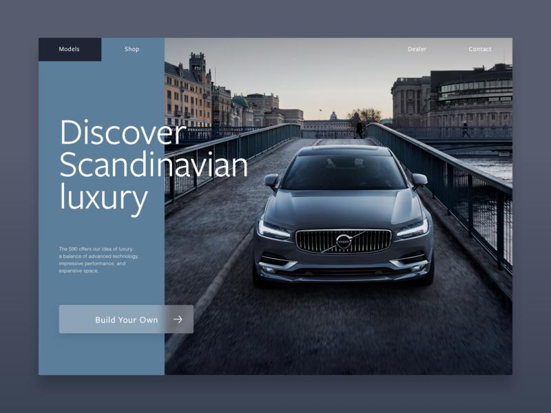 Volvo Exploration ui design typography responsive website branding design ux ui