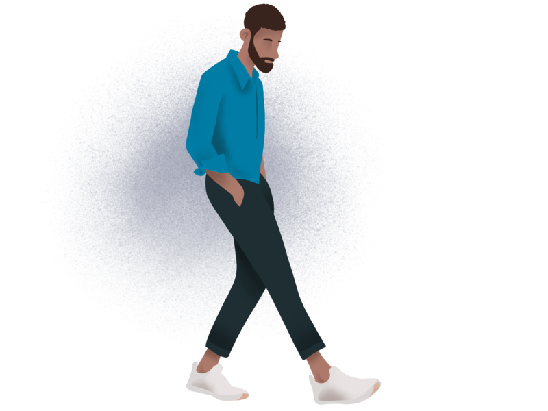 Character Illustration / A Stroll website branding logo vector icons illustration