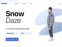 Landing Page - Puffer / Snow Daze