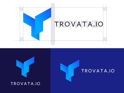 Trovata Logo banking app movement form identity branding logo