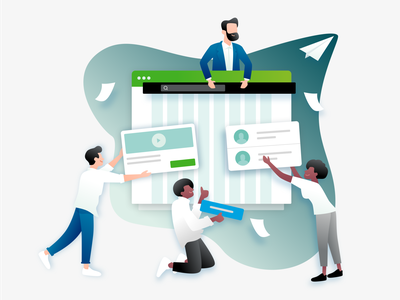 Illustration strategies business infographic design app icons illustration website