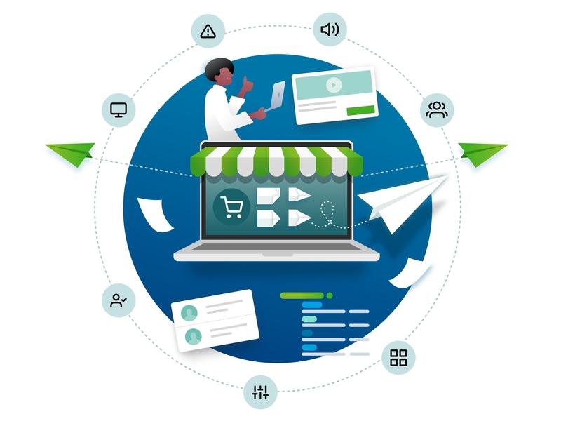 Presentaion Illustration v2 website web vector app parallax logo icons branding illustration