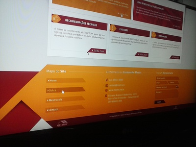 Footer Mestra design web ui interface ux footer layout site ui design