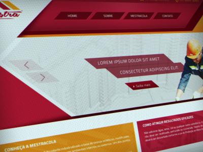 Header ui ux red construction brazil brasil brand design web site web design layout web