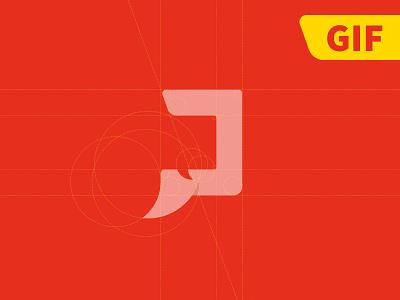Produza [GIF] logo gif process red design logotype symbol nilo sadi creat animated brazil
