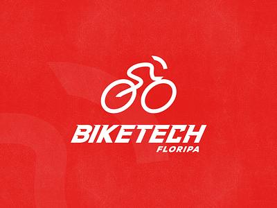 Biketech design brazil logo logotype creat process sadi symbol bike road tech floripa