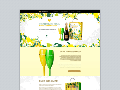 Hotside Torcida Chandon chandon brazil web layout colors pack