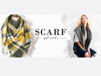 Fashion Banner Design- scarf