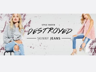 Fashion banner design - Destroyed Jeans