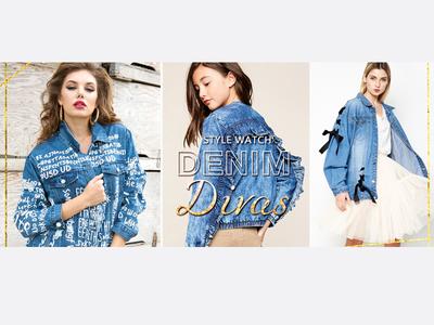 Fashion banner design - Denim Divas