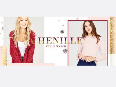 Fashion banner design - Chenille