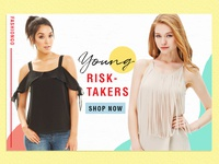Fashion banner design - Young risk-takers
