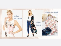 Website banner design for spring