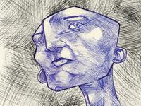 Ballpoint pen character study