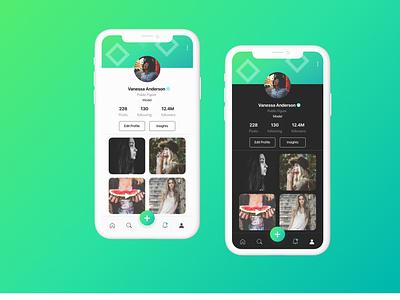 Daily UI 006 - User Profile figma mobile app social media userprofile profile ux uiux ui dailyui