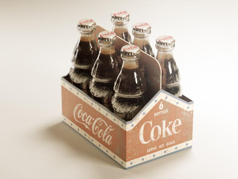 Coca Cola americana 3d coca cola coke nostalgia classic isometric c4d cinema 4d