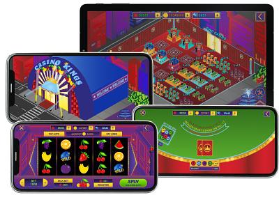 Casino Kings Mobile Game app graphics design ux casino graphic design 2d ui game design mobile