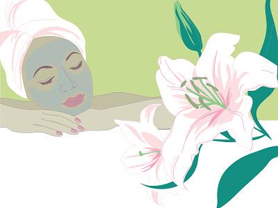 Organic Spa mindfulness wellness living detox body and mind youth natural meditation yoga organic health healthy living wellness beauty fashion adobe illustrator vector design portfolio illustration graphic design