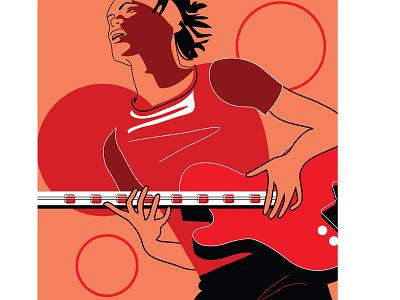 New Orleans jazz club urban lifestyle hip hop consert lifestyle musician guitar musical instrument music entertainment poster branding fashion adobe illustrator vector design portfolio illustration graphic design