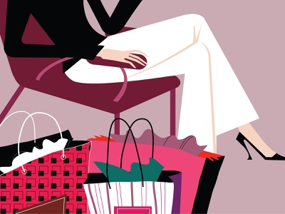 Austin graphic illustrator graphic artist editorial vectorart luxury urban lifestyle lifestyle consumer shopping mall shopping fashion adobe illustrator vector design portfolio illustration graphic design