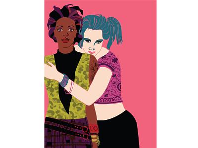 The New Yorker student magazine graphic art girl youth university education diversity lifestyle hip couple lgbt gay fashion adobe illustrator vector design portfolio illustration graphic design