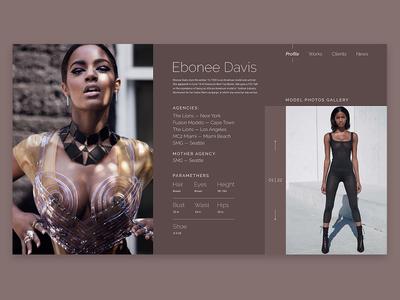 Model page — Ebonee Davis