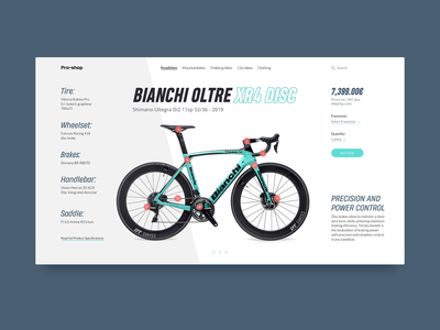 Bike Store Product Card - Bianchi Oltre XR4 Disc