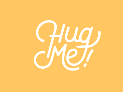 Hug Me quote graphic design me hug letters text branding vector monoline logo lettering illustration design calligraphy illustrator