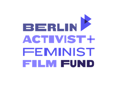 Berlin Activist and Feminist Film Fund purple fund film fest word vector logo
